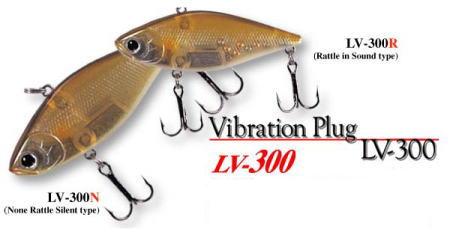 "Lucky Craft LV-300N Crankbait rouge//jaune à rayures 2 3//4/"" L"