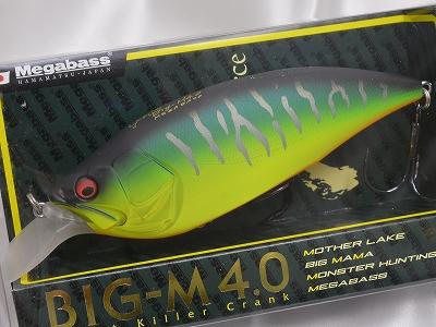 Megabass lure BIG-M 4.0 crankbait mat Tiger