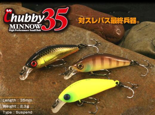 Jackall Chubby Minnow 35 fishing lures original range of colors